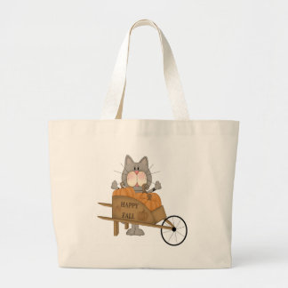 Cat happy fall canvas bags