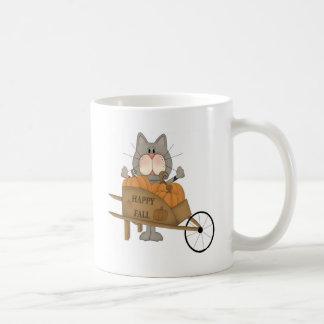 Cat happy fall mug