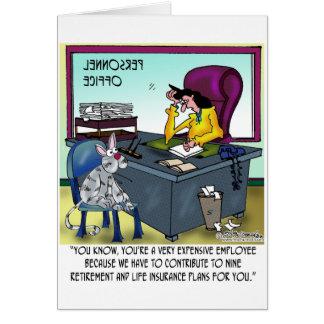 Cat Has 9 Life Insurance Plans Card