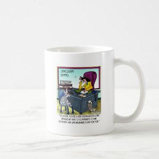Cat Has 9 Life Insurance Plans Coffee Mug