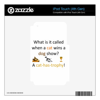 Cat-has-trophy Decals For iPod Touch 4G