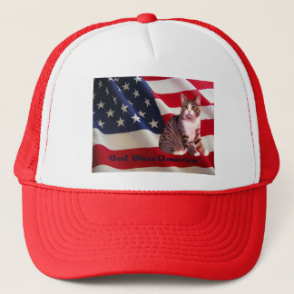 Cat Hat God Bless America