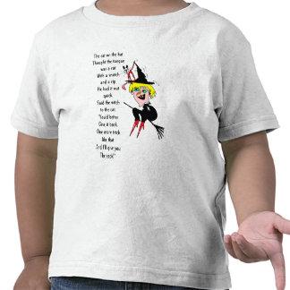 Cat hat witch poem t-shirts