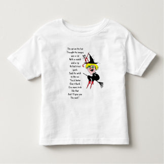 Cat hat witch poem toddler t-shirt