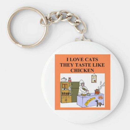 cat hater design basic round button keychain