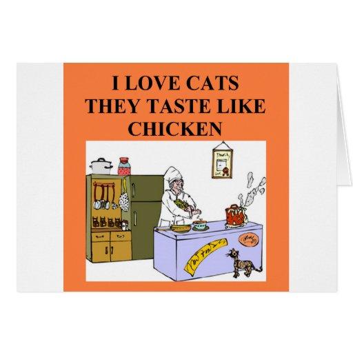 cat hater design greeting card