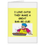 cat hater greeting card