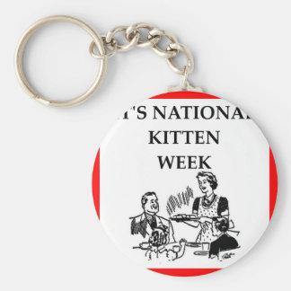 cat hater basic round button keychain