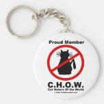 Cat hater logo keychain