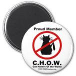 Cat hater logo magnet