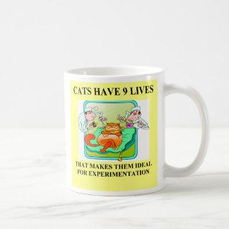cat haters biology joke, cat haters biology joke classic white coffee mug