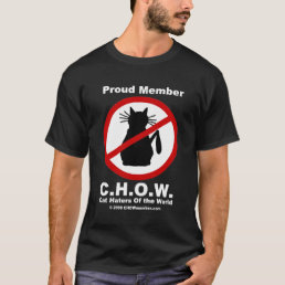 Cat Haters C.H.O.W. Logo T-shirt
