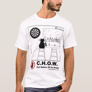Cat Haters Dartboard T-shirt