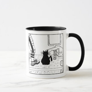 Cat Haters Football Cartoon Mug