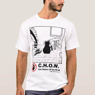 Cat Haters Football Cartoon T-shirt