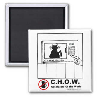 Cat Haters Microwave Cartoon Magnet