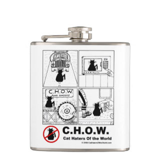 Cat Haters Of the World Flask