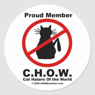 Cat Haters Of the World Stickers