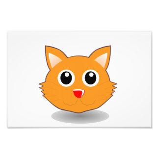 Cat head cartoon photo art