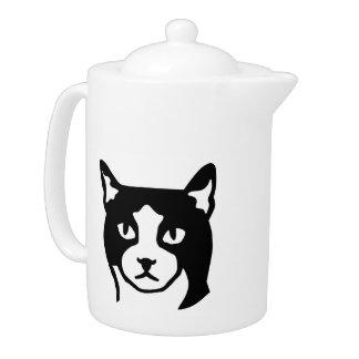 Cat head teapot