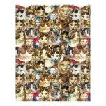 Cat heads 8.5x11 scrapbook paper, crazy cat lady letterhead