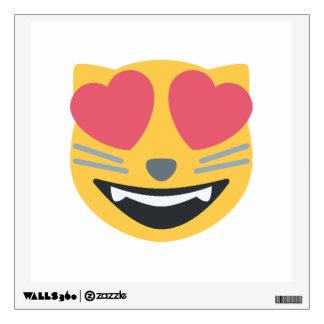 Cat Heart Emoji Wall Decal