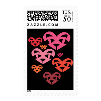 Cat Heart Family Warm 2 Stamp