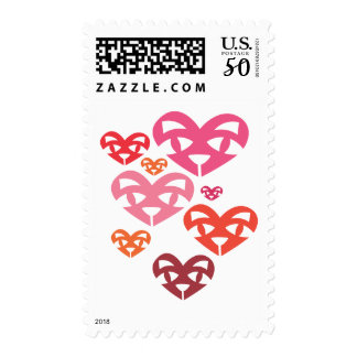 Cat Heart Family Warm Stamp