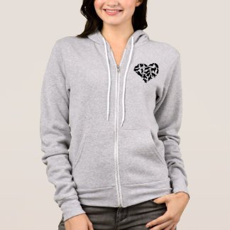 Cat Heart Silhouette Concept Hoodie