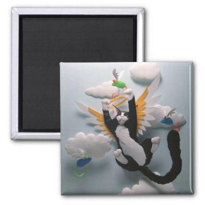 Cat In Heaven. Cat Heaven Magnet by