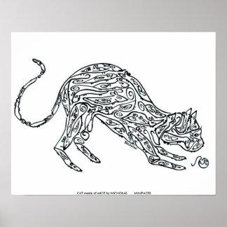 CAT hecho de RATONES por NICHOLAS       MINI… Póster