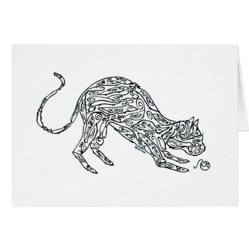 CAT - hecho de RATONES Tarjeton
