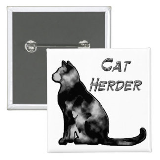 Cat Herder 2 Inch Square Button