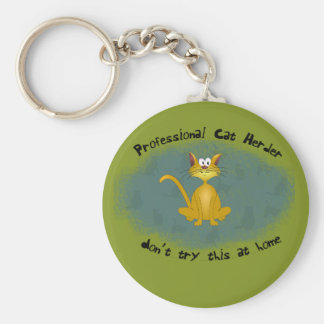 Cat Herder Funny Keychain