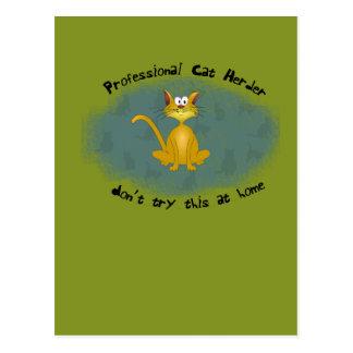 Cat Herder Funny Postcard