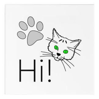 Cat - Hi! Acrylic Wall Art
