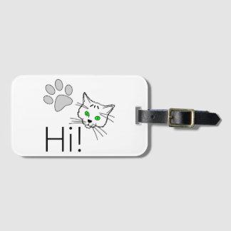 Cat - Hi! Bag Tag