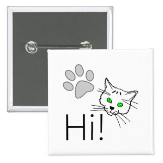 Cat - Hi! Button