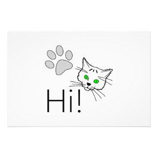 Cat - Hi! Photo Print