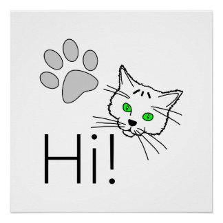 Cat - Hi! Poster