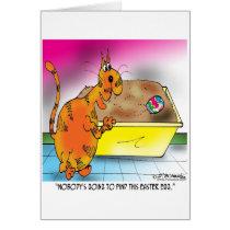 Cat Hides Easter Egg Card