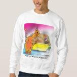 Cat Hides Easter Egg Pullover Sweatshirt