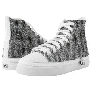 Cat High-Top Sneakers