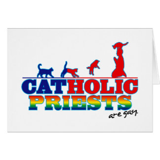 Cat-Holic Priests Greeting Cards