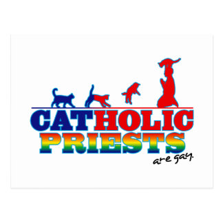 Cat-Holic Priests Postcard