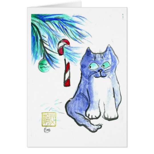 cat holiday 14 card