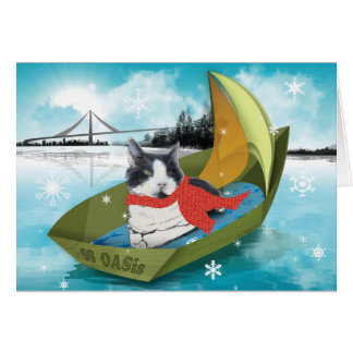 Cat holiday card from Oakland Animal Services