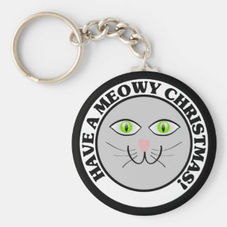 Cat Holiday: Have a Meowy Christmas Keychain