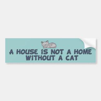 Cat Home Car Bumper Sticker