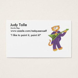 cat hot licks, Judy Tolle, Zazzle Rep., www.zaz... Business Card